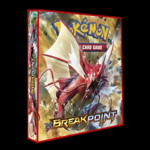Álbum Pokémon para cards tipo fichário - XY BREAK POINT modelo 1 (vermelho)