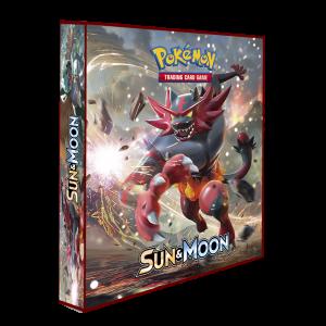 Álbum Pokémon para cards tipo fichário - SUN & MOON modelo 3 (vinho)