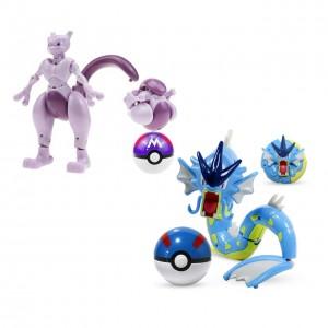 Bola Pokemon ROLL MEWTWO/GYARADOS (13-22cm) 2 itens/lote - Importada