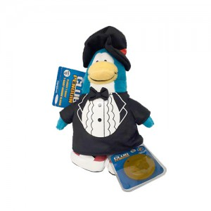 Pelúcia Club Penguin - CARTOLA (15cm)