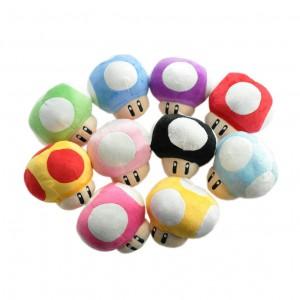 Pingente Pelúcia Turma Mario Bros COGUMELOS (6 cm) - 5 itens/lote (10 cores) - Importado