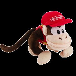 Pelúcia Turma Mario Bros DIDDY KONG  (17 cm) - Importada