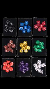 Kit 7 Dados RPG Opaco (D4/D6/D8/D10/D10%/D12/D20)
