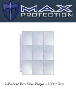 FOLHA Plástica para albuns MAXPROTECTION - 9 bolsos (10 folhas)