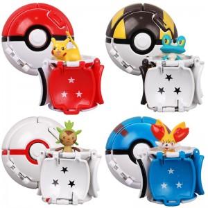 Bola Pokemon POP UP (7cm) 4 Itens/lote (4 modelos)  - Importada