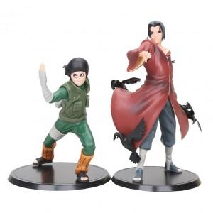 Action Figure NARUTO ITACHI & ROCK LEE (16 cm) 2 itens/lote - Importada