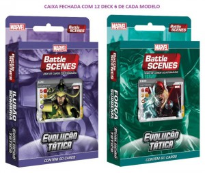 MARVEL Battle Scenes EVOLUÇÃO TÁTICA Deck Box (12/60)
