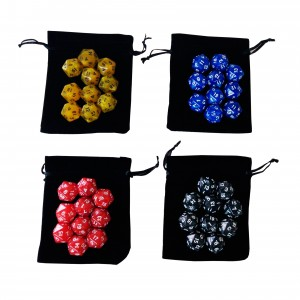 Kit 5 dados RPG D20 Coloridos