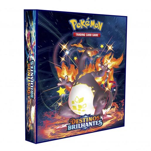 ALBUM Pokémon para cards tipo fichário - ESPADA&ESCUDO; Destinos Brilhantes