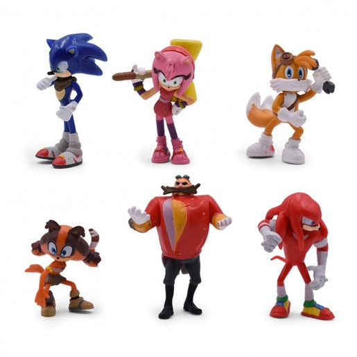 Action Figure Turma Sonic (9 cm)  6 itens/lote (modelo 2) - Importada