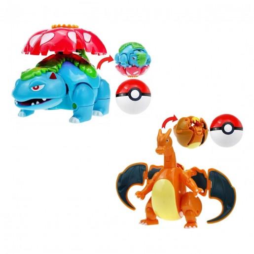 Bola Pokemon ROLL CHARIZARD/VENUSAUR 2 itens/lote (12-8cm) - Importada