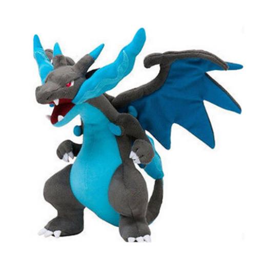 Pelúcia Turma Pokémon CHARIZARD MEGA X (25 cm)  - Importada