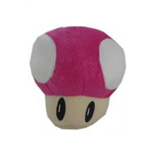 Pelúcia Turma Mario Bros - COGUMELO PINK (15cm)