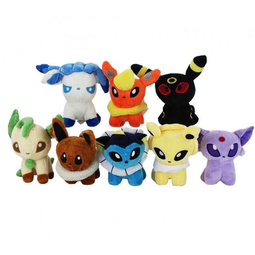 Pelúcia Turma Pokémon EVOLUÇÃO EEVEE MINI (13cm) - 8 itens/lote (8 modelos)