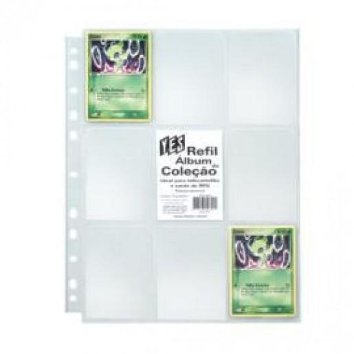 FOLHA Plástica para albuns YES - 9 bolsos (pacote com 10 folhas)